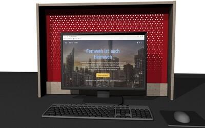 Uriger Blickfang am Computer oder am Fenster, 100 x 70cm