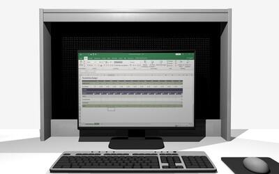 Sicht- und Blendschutz für deinen Computer- Bildschirm 100 x 70cm