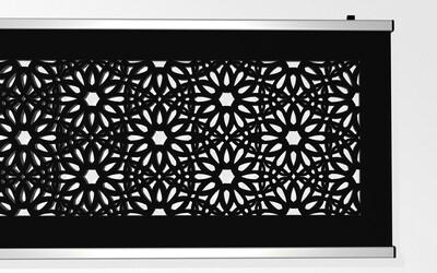 Textiler Wandbehang 190 x 74cm mit floralem Design