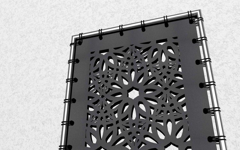 Textiles Paneel, bunt oder elegant - für Eingang oder Terrasse