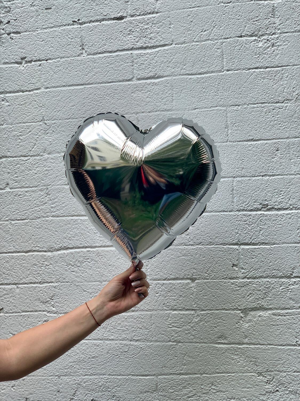 Foil baloon heart