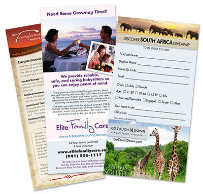 Rack Cards 4x9 - FREE SHIPPING