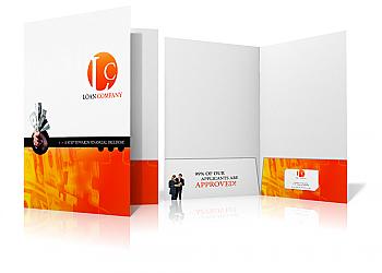Presentation Folder- 1 sided print- 2 pocket-FREE SHIPPING