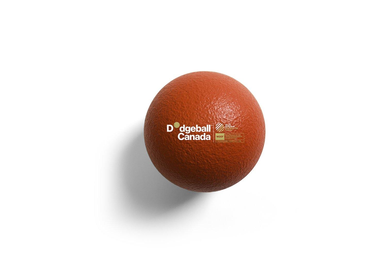 "7"" WDBF PU Skin Foam Dodgeball (RED)"