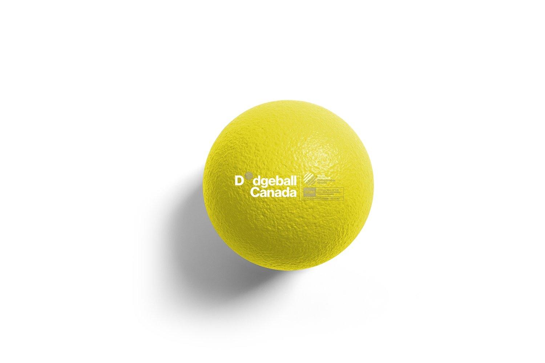 "7"" WDBF PU Skin Foam Dodgeball (ORANGE)"