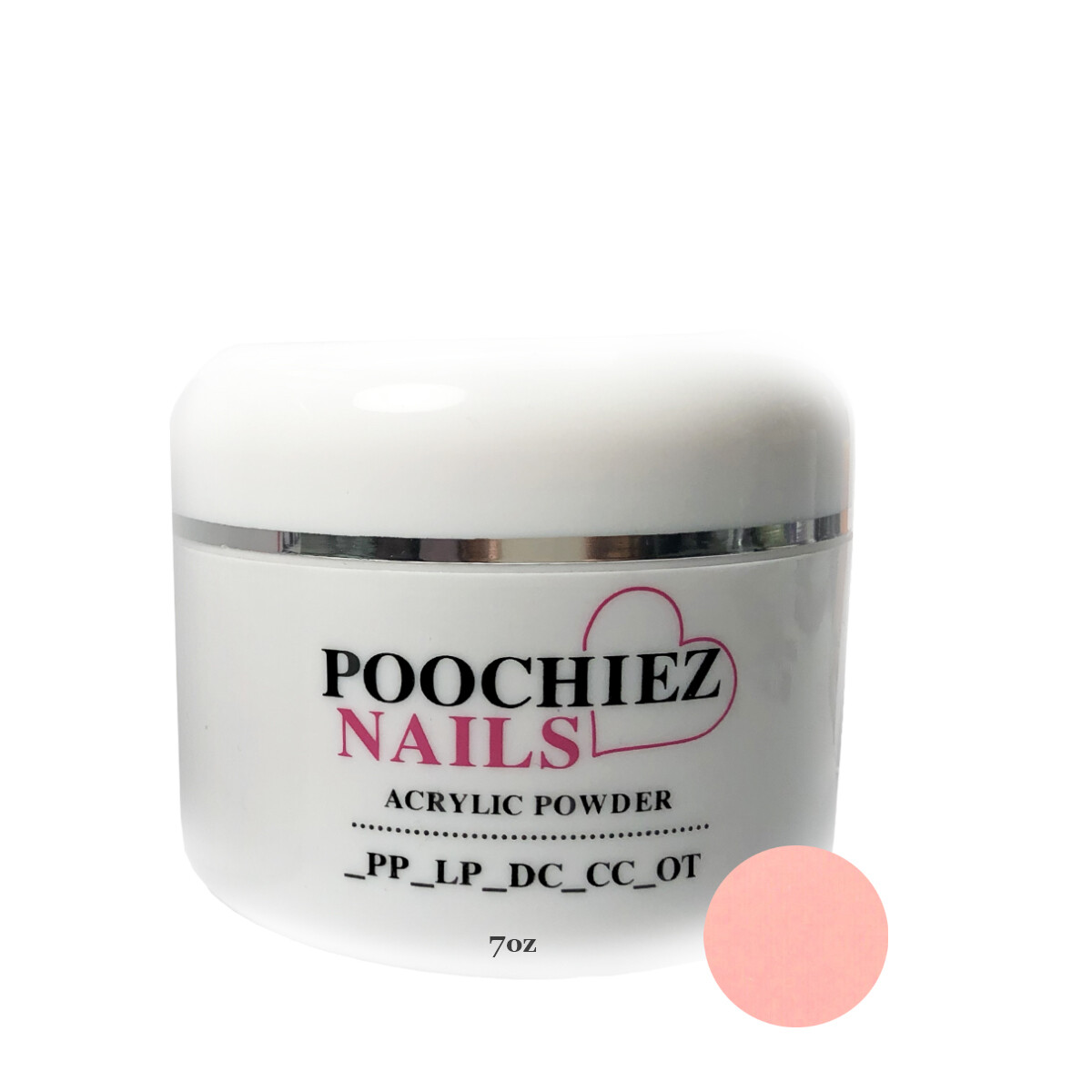 (PA2) 6oz POOCHIEZ PINK COVER ACRYLIC