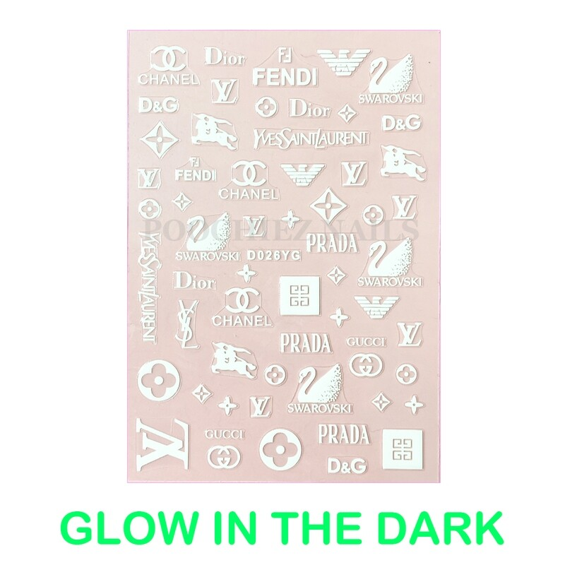 MIX FASHION GLOW IN THE DARK STICKERS