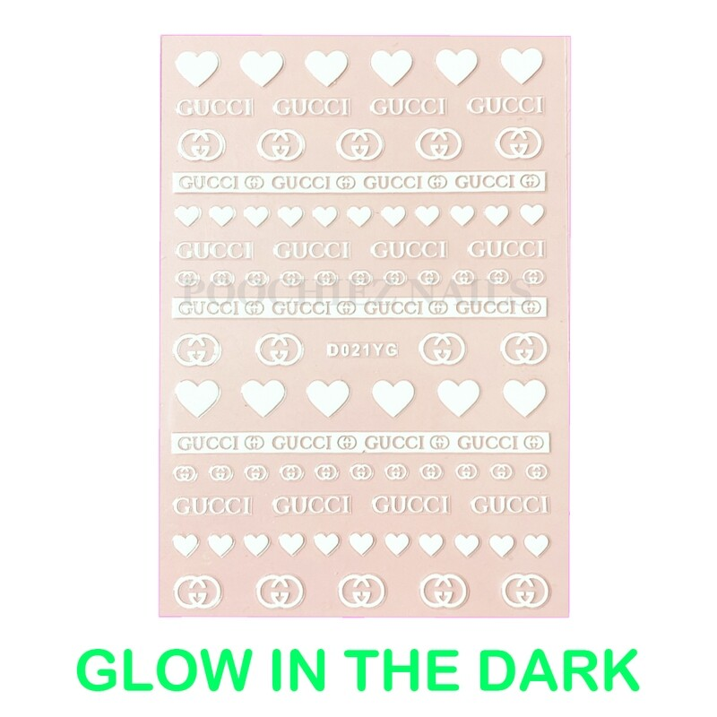 HEART GG GLOW IN THE DARK STICKERS