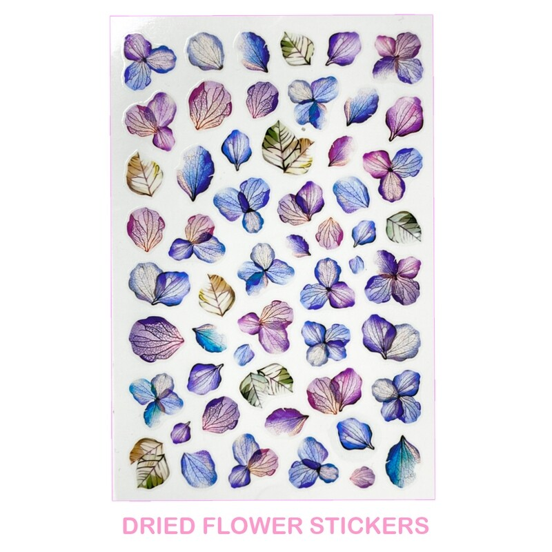 DRIED FLOWERS STICKERS