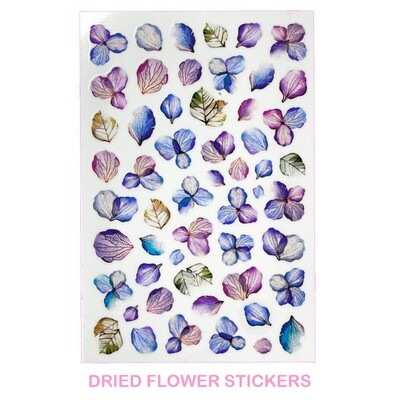 DRIED FLOWERS STICKERS
