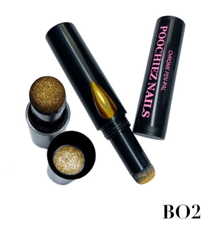 B02 GOLD HOLO CHROME PEN (APPLY ON CURED GEL POLISH) 0.5 grams