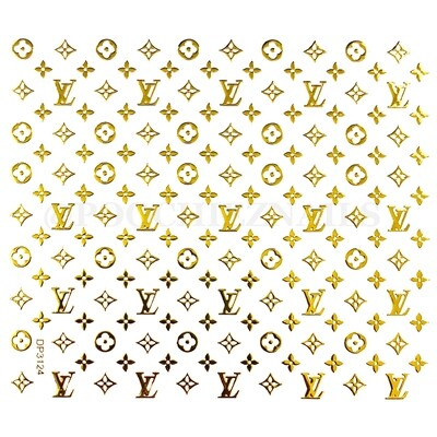 LV GOLD ( STICKERS) #124