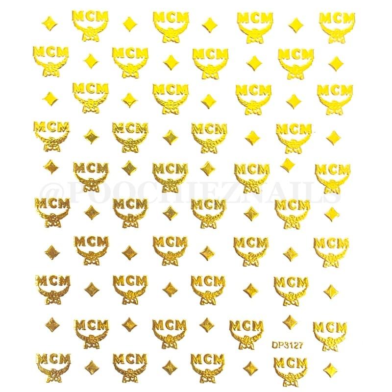 MCM GOLD STICKER