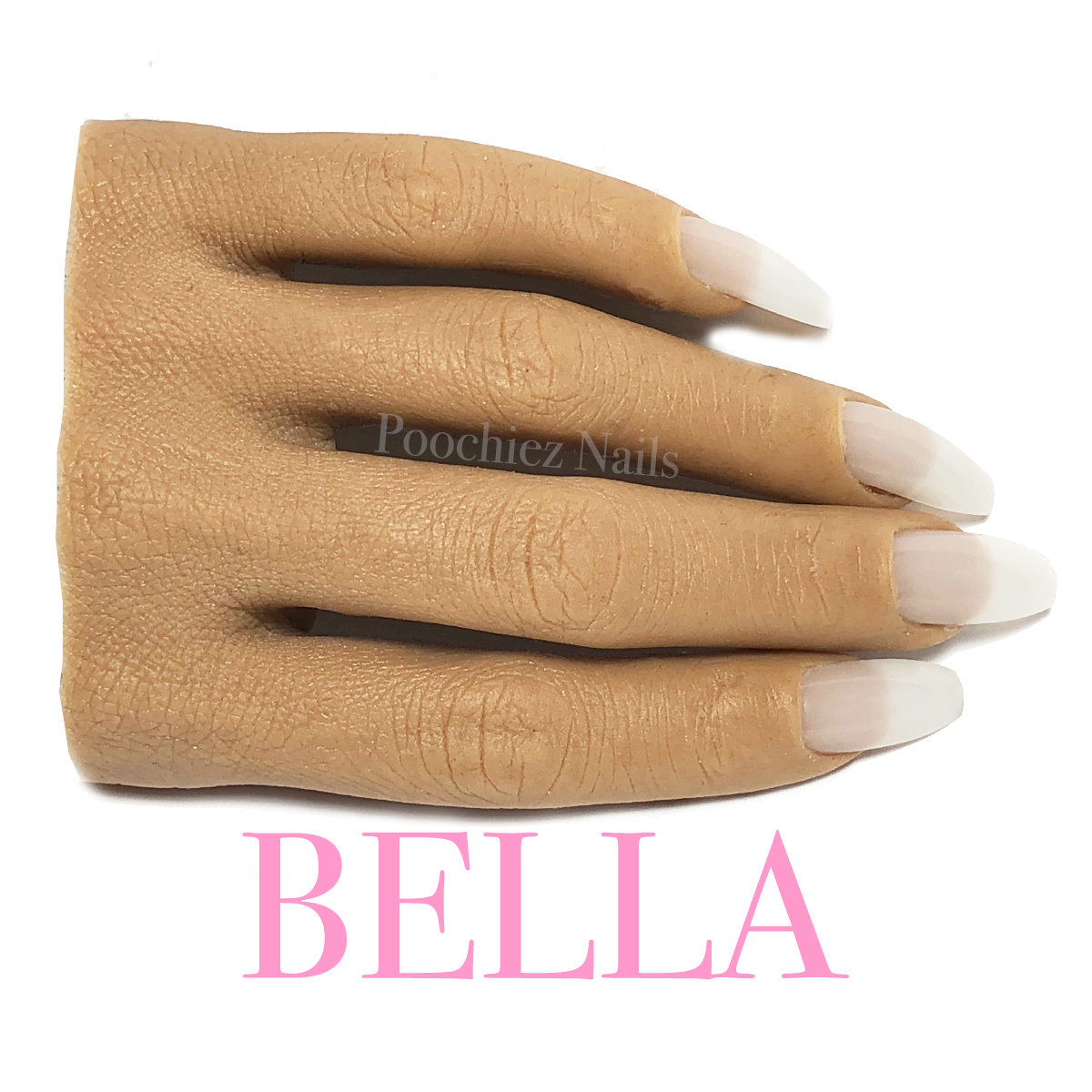 (H1) BELLA HALF REALISTIC PRACTICE HAND ( PLEASE READ THE DIRECTIONS & WATCH THE VIDEOS BELOW) WILL TAKE 5-8 DAYS TO PROCESS.