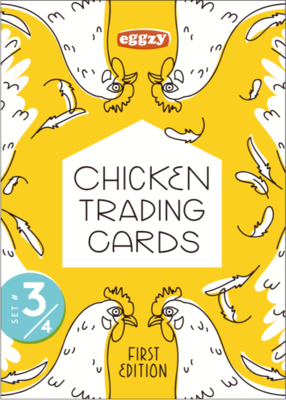 Chicken Trading Cards - Pack 3, 1st Edition