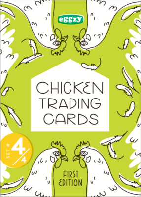 Chicken Trading Cards - Pack 4, 1st Edition