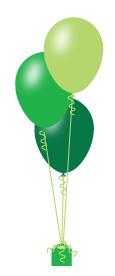 Three latex balloon arrangement