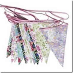 Floral Cotton Vintage Bunting Hire