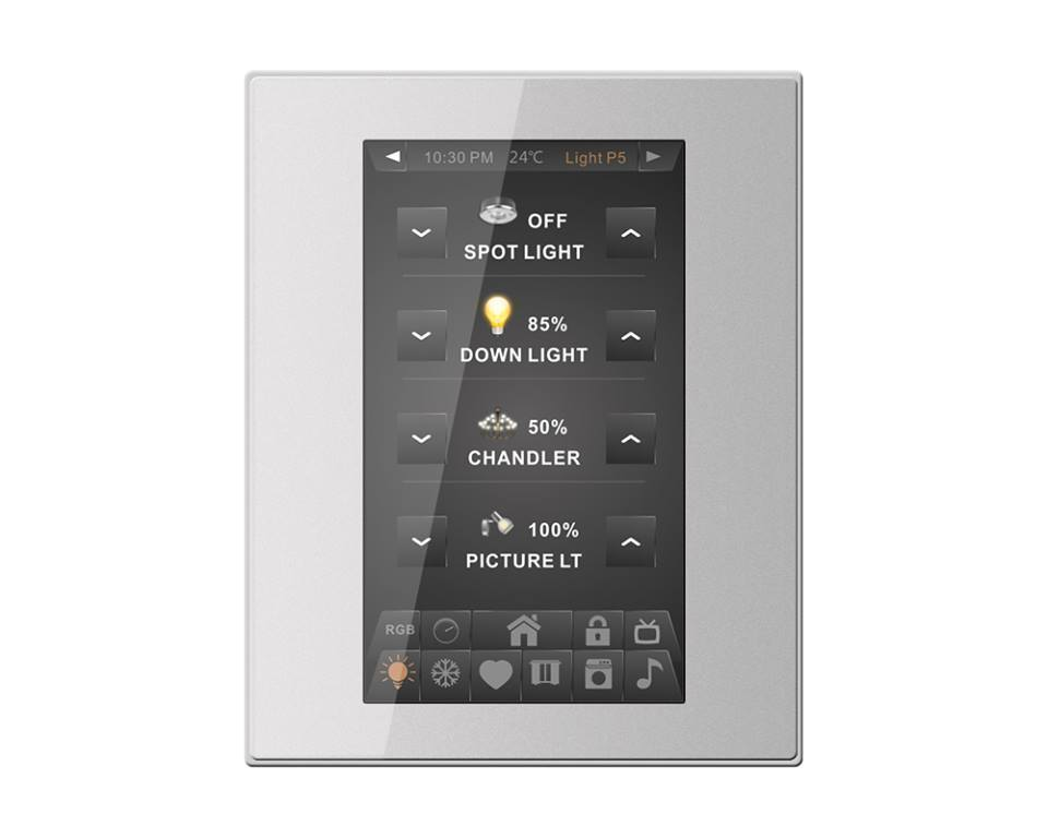 CDP2 Capacitive Color Dynamic Display Home Panel Slim Wall Switch  SB-CDP2-UN