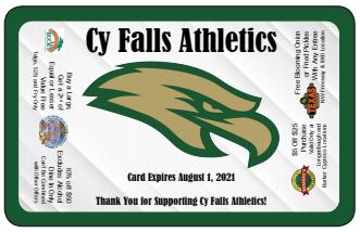 2020/2021 Cy-Falls Athletics Fundraiser