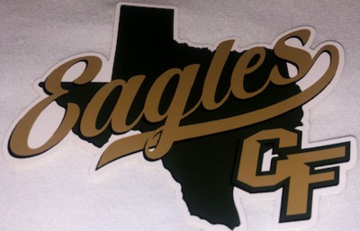 20/21 Cy-Falls Car Window Decal - Texas Eagles