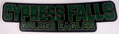 20/21 Cy-Falls Car Window Decal - Cypress Falls Golden Eagles