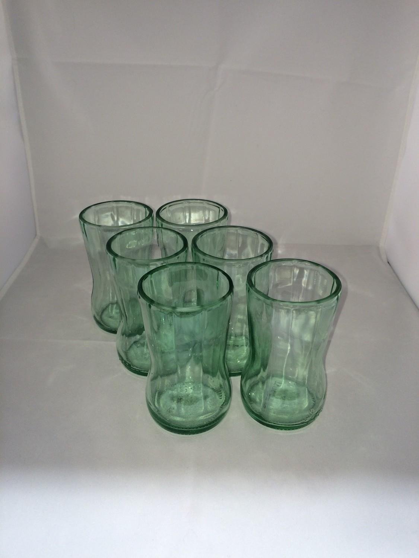Soda bottle glasses set of 6