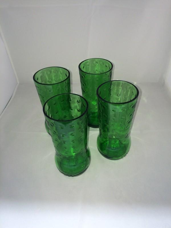 Soda bottle glasses set of 4