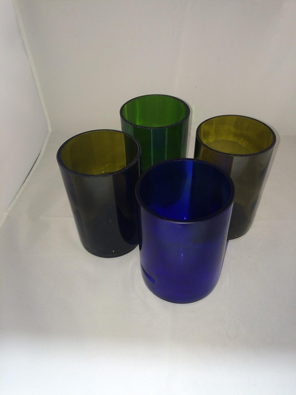 Repurposed Glasses set of 4