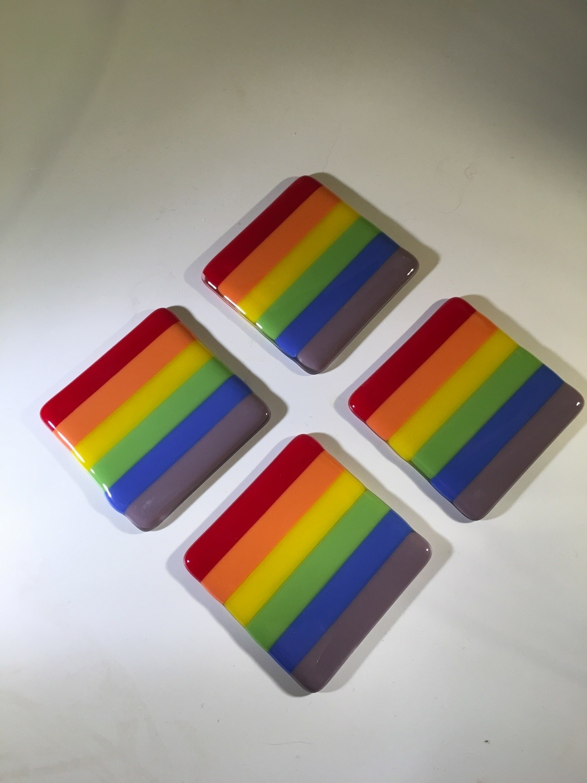 Rainbow Coasters (set of 4)