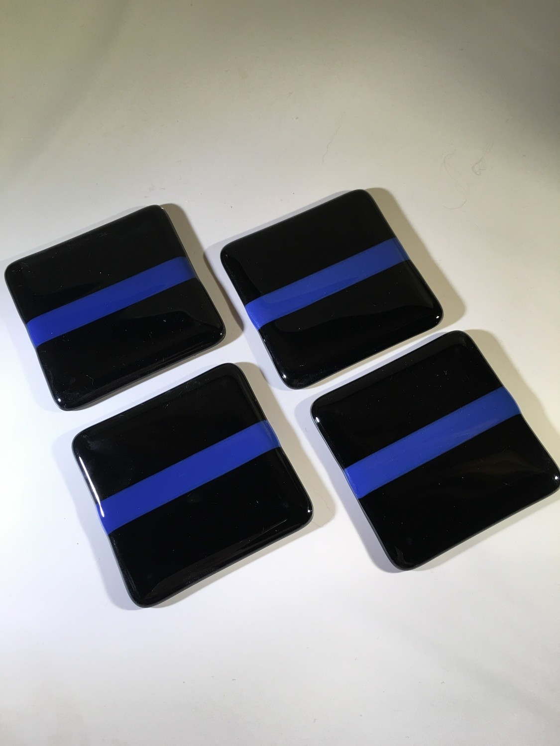 Thin Blue Line coasters (set of 4)