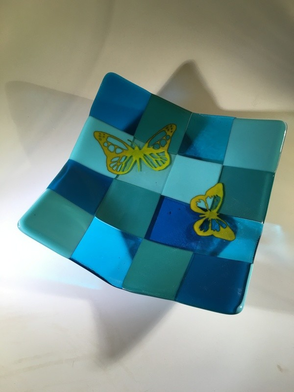 Yellow Butterflys on Teal