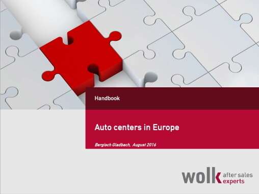 Auto centers in Europe 2016