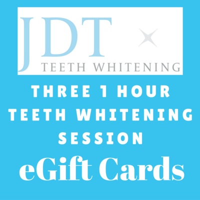 Pre-Paid Three 1 Hour Teeth Whitening Session Package