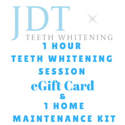 Pre-Paid 1 Hour Teeth Whitening Session & Home Maintenance Kit