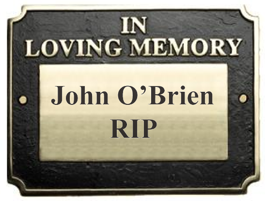 """Engraved """"In Loving Memory"""" Cast Brass Plaque"""