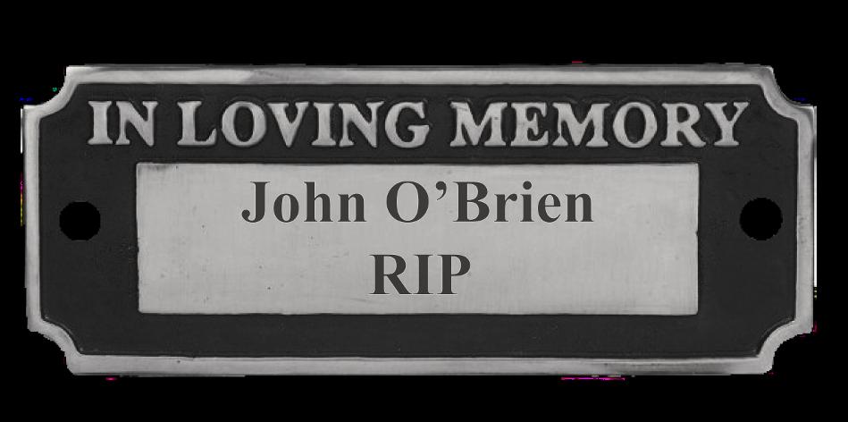 "Engraved ""In Loving Memory"" Cast Bench Sign (Aluminium)"