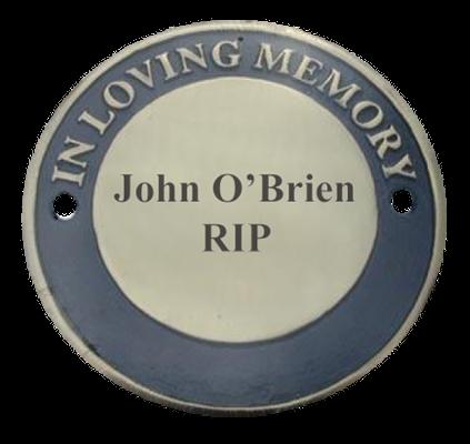 "Engraved ""In Loving Memory"" Cast Memorial Disc (Brass)"