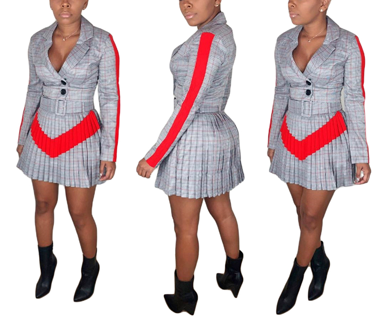 Casual Plaid Print Short Skirts Outfits