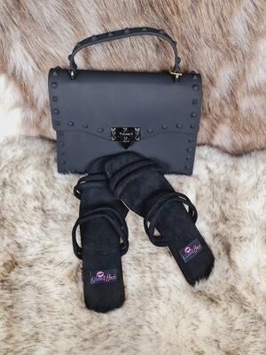 Fashion Slides Indoor outdoor Sandals  & Bag Set