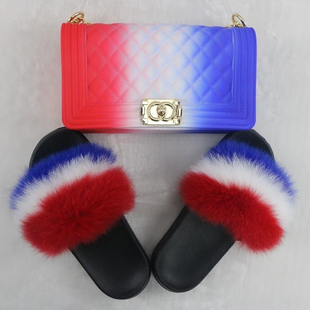 Handbag and jelly slides set