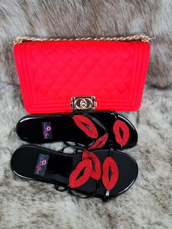 Slip On Summer Slide and handbag set