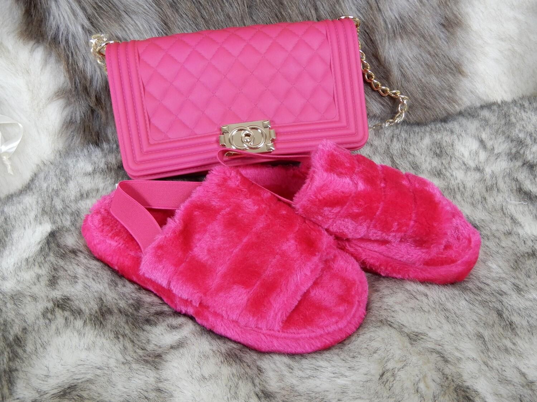 Fashion Flip flop flat Set with bag