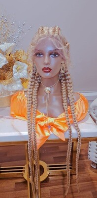 Glameffect lace front braided wig