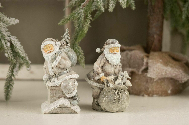 Julemand med gavesæk Grå/hvid