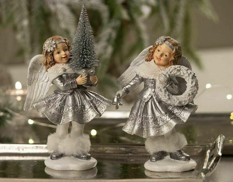 Engel m/juletræ