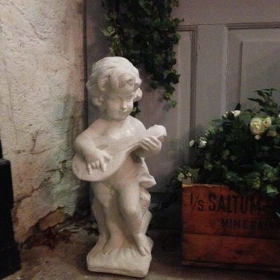 Engel m.banjo / Lahema Marmorkunst