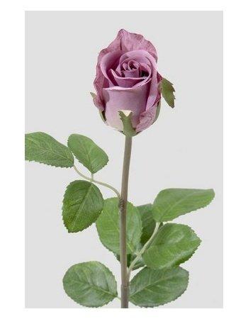 Dekorationsblomster - Rose på stilk, lys lilla. H50 cm