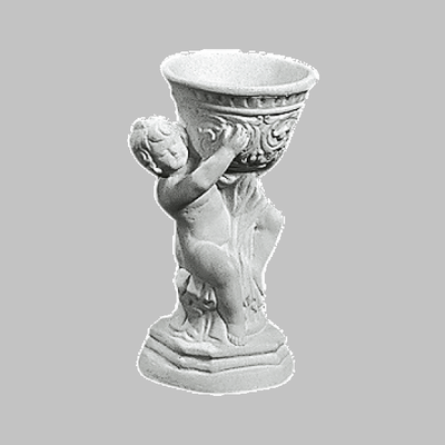 Blomster vase i marmor