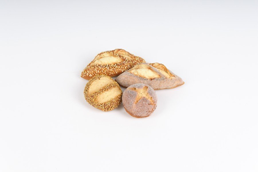 Dekorationsbrød - Brød 4 stk. mix. 5 til 7 cm
